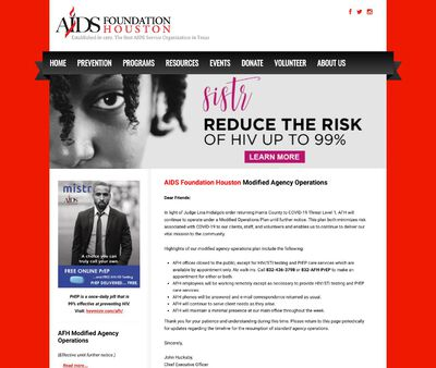 STD Testing at AIDS Foundation Houston Incorporated