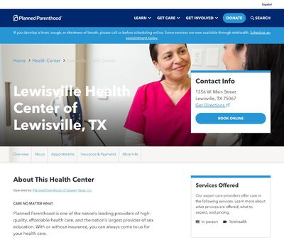 STD Testing at Planned Parenthood of Greater Texas- Lewisville Health Center