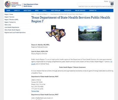 STD Testing at Texas Department of State Health Services (Region 7)