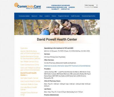 STD Testing at CommUnityCare David Powell Clinic