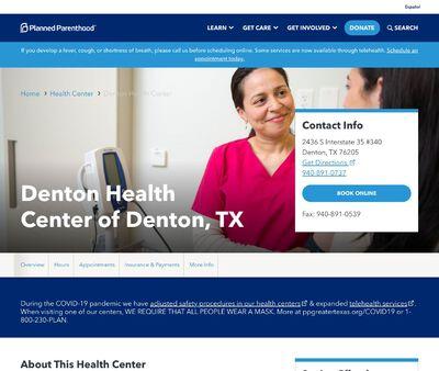 STD Testing at Planned Parenthood - Denton Health Center of Denton, TX