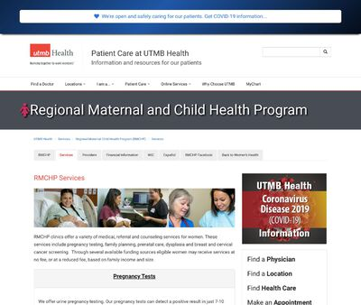 STD Testing at University of Texas Medical Branch Regional Maternal Child Health Program