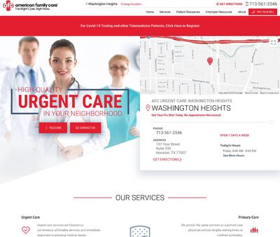 STD Testing at AFC Urgent Care Washington Heights