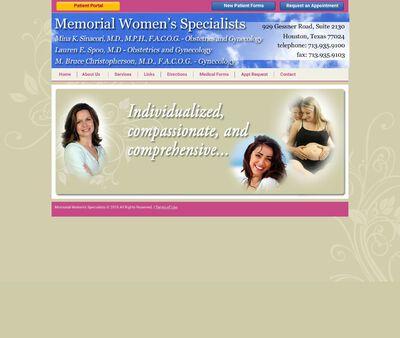 STD Testing at Memorial Women's Specialists   OB/GYN Houston