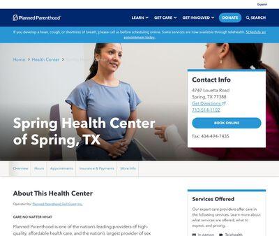 STD Testing at Planned Parenthood - Spring Health Center