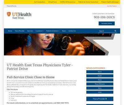 STD Testing at UT Health East Texas - University Health Clinic