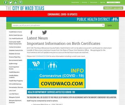 STD Testing at City of Waco Texas Public Health District
