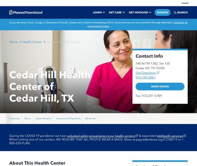 STD Testing at Cedar Hill Health Center of Cedar Hill, TX