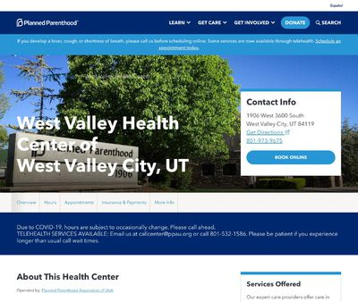 STD Testing at West Valley Health Center