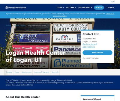 STD Testing at Planned Parenthood - Logan Health Center of Logan, UT