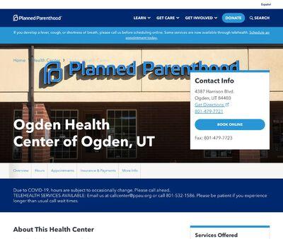 STD Testing at Planned Parenthood Association of Utah (Ogden Health Center)