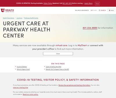 STD Testing at University of Utah Health Parkway Urgent Care