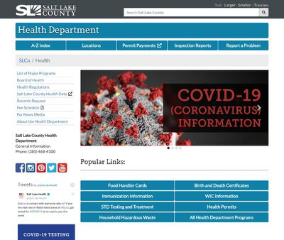 STD Testing at Salt Lake County Health Department, STD/HIV Clinic