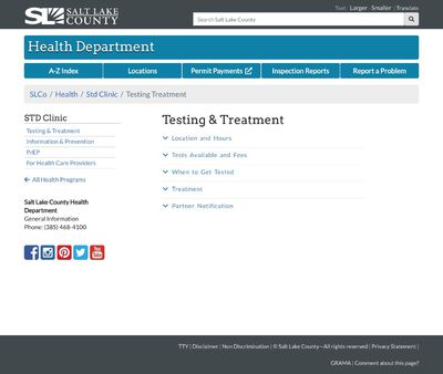 STD Testing at Salt Lake STD Clinic