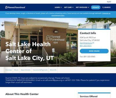 STD Testing at Planned Parenthood Association of Utah (Salt Lake Health Center)