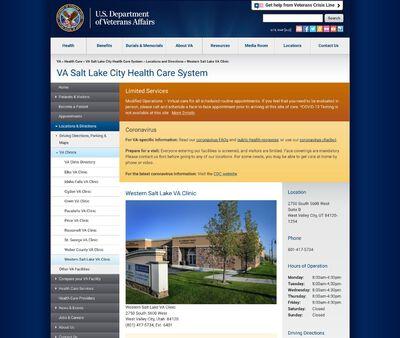 STD Testing at Western Salt Lake VA Clinic