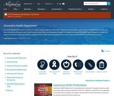 STD Testing at Virginia Department of Health (Alexandria Health Department)