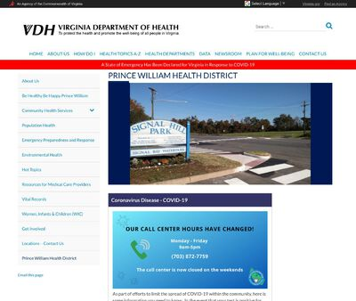 STD Testing at Prince William County Health Department
