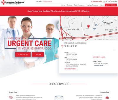 STD Testing at AFC Urgent Care Suffolk