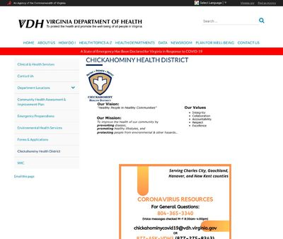 STD Testing at Virginia Department of Health (Chickahominy Health District)