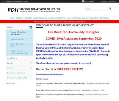 STD Testing at Virginia Department of Health (Three Rivers Health District)