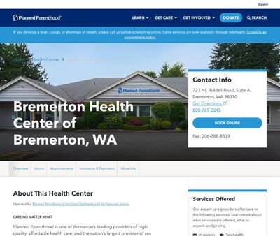 STD Testing at Planned Parenthood - Bremerton Health Center