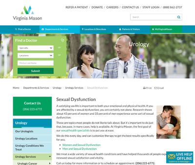 STD Testing at Virginia Mason Hospital
