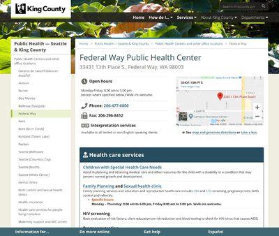 STD Testing at Federal Way Public Health Center