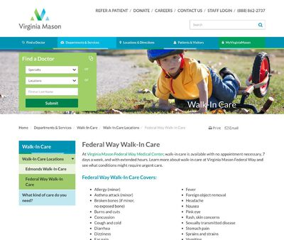 STD Testing at Virginia Mason Federal Walk-In Care