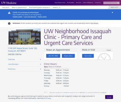 STD Testing at UW Neighborhood Issaquah Clinic - Primary Care and Urgent Care Services