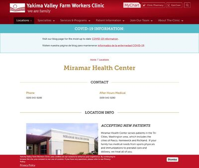 STD Testing at Yakima Valley Farm Workers Clinic - Miramar Health Center