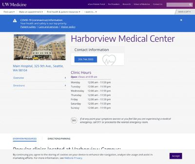 STD Testing at Harborview Medical Center - UW School of Medicine