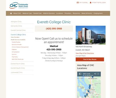 STD Testing at Community Health Center of Snohomish County Everett-College Clinic