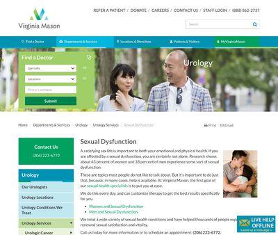 STD Testing at Sexual Health Clinic at Virginia Mason