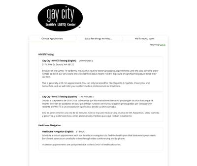 STD Testing at Gay City: Seattle's LGBTQ Center