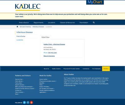 STD Testing at Kadlec Clinic - Infectious Disease