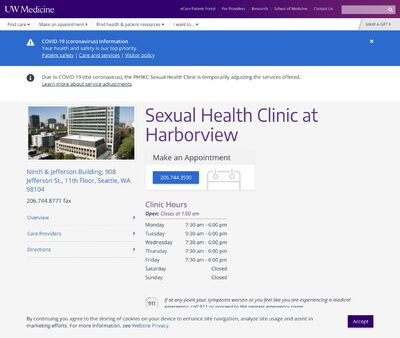 STD Testing at STD Clinic at Harborview Medical Centre