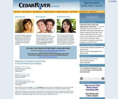 STD Testing at Cedar River Clinics (Tacoma Health Center)