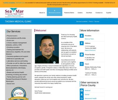 STD Testing at Sea Mar Community Health Centers (Tacoma Medical Clinic)