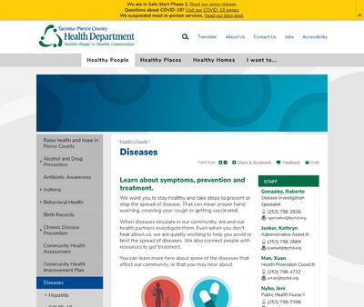 STD Testing at Tacoma-Pierce County Health Department (Communicable Disease Control)