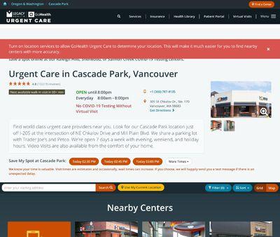 STD Testing at Legacy-GoHealth Urgent Care Cascade Park