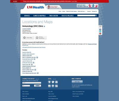 STD Testing at UW Health Immunology (HIV) Clinic