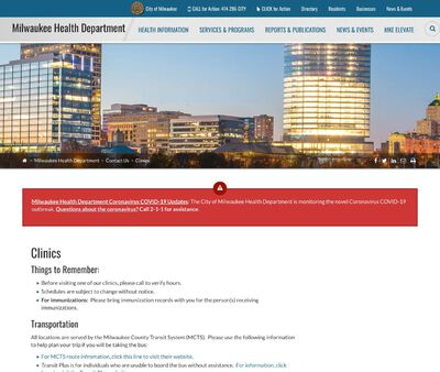 STD Testing at City of Milwaukee Health Department