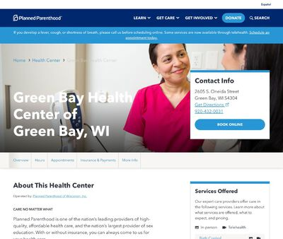 STD Testing at Planned Parenthood - Green Bay Health Center of Green Bay, WI