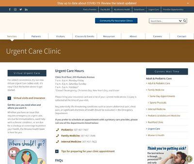 STD Testing at Winona Health's Urgent Care