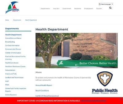 STD Testing at Manitowoc County Health Department