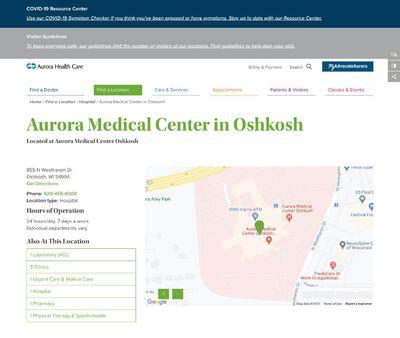 STD Testing at Aurora Medical Center Oshkosh