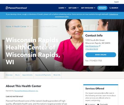 STD Testing at Planned Parenthood - Wisconsin Rapids Health Center